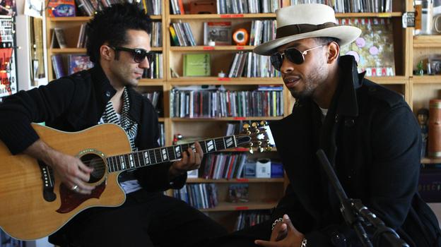 Miguel performs a Tiny Desk Concert. (NPR)