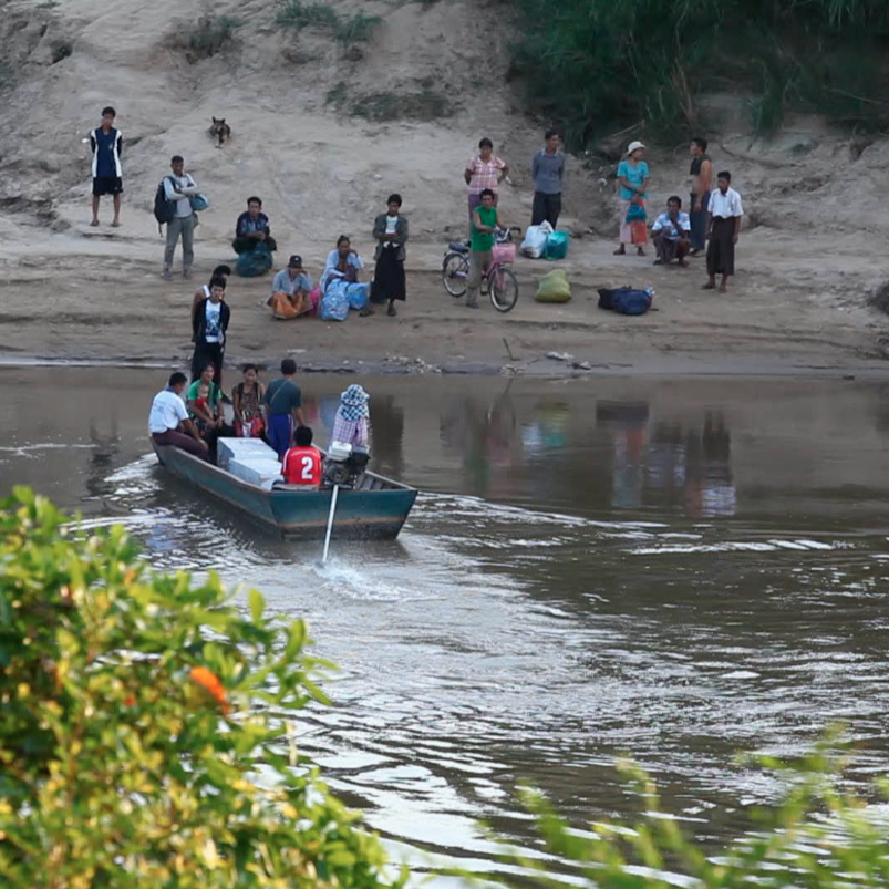 The Moei River marks the border between Thailand and Myanmar. This region is a hot spot for drug-resistant malaria because people move freely between a country that has the disease under control, Thailand, and one that doesn't, Myanmar.