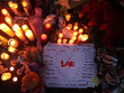 In Newtown: A memorial to the victims.