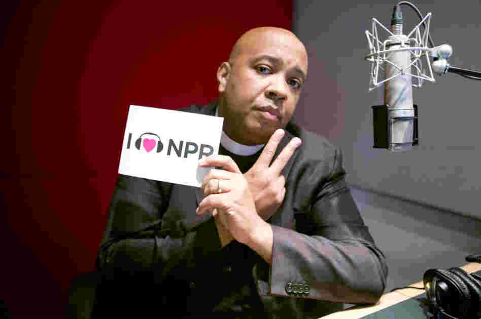 Rev. Run at NPR headquarters.