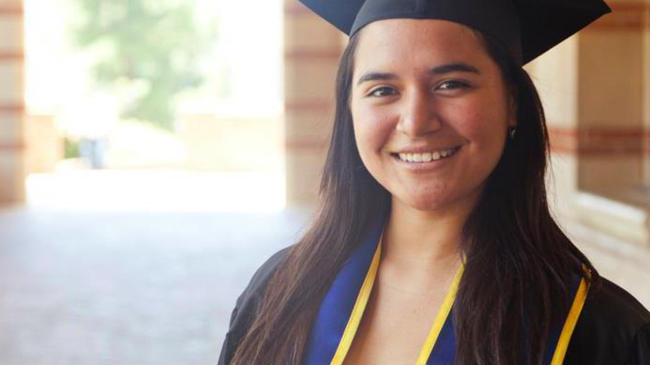Sofia Campos, 23, is the head of the United We Dream campaign — a national network of youth-led immigrant organizations. Campos was born in Peru, but grew up in California, entirely unaware of her undocumented status until she tried applying for college scholarships. (Courtesy of Sofia Campos)
