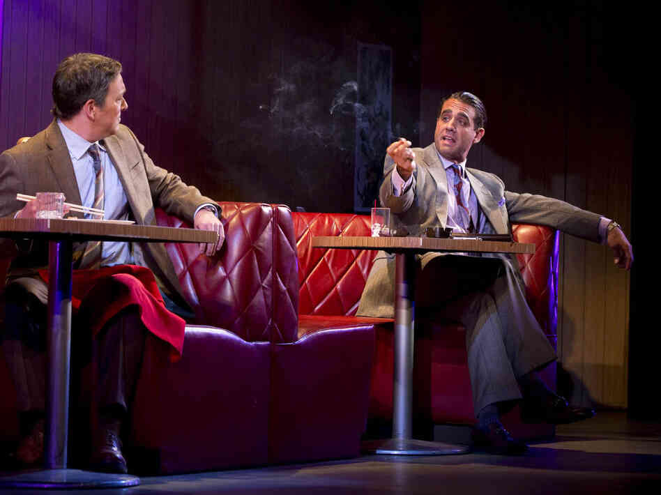 Bobby Cannavale (right) stars in Glengarry Glen Ross on Broadway. Cannavale has also starred in television shows such as HBO's Boardwalk Empire an