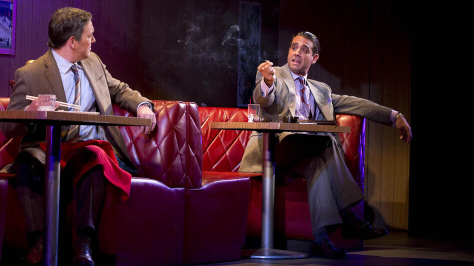 Bobby Cannavale (right) stars in Glengarry Glen Ross on Broadway. Cannavale has also starred in television shows such as HBO's Boardwalk Empire and in films such as The Station Agent. (JRA Broadway)