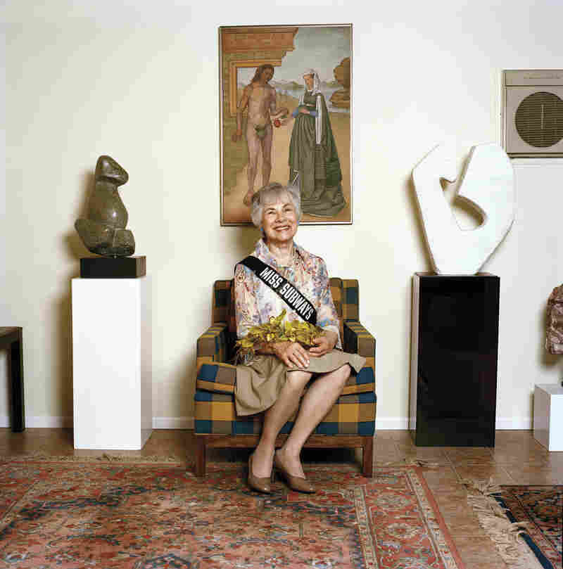 Enid Berkowitz Schwarzbaum at home with her artwork in Valley Stream, N.Y., 2008.