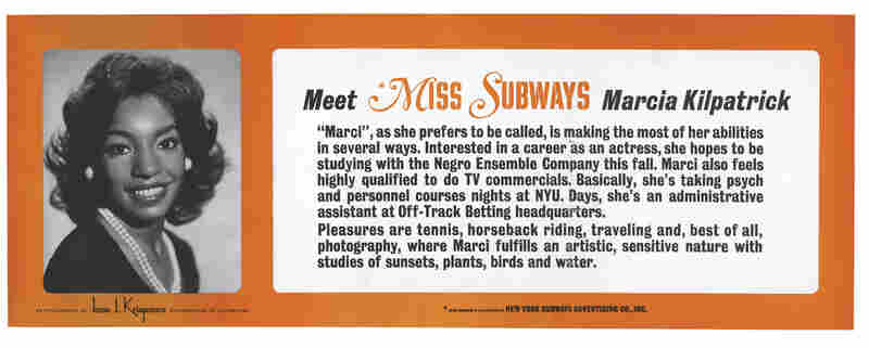 Kilpatrick was Miss Subways from November 1974 to April 1975.