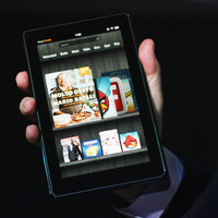 Amazon's Kindle Fire tablet is displayed on Sept. 28, 2011, in New York City.