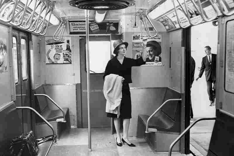 Miss Subways Dorothy Calaghan poses in a new subway car at Willis Point.