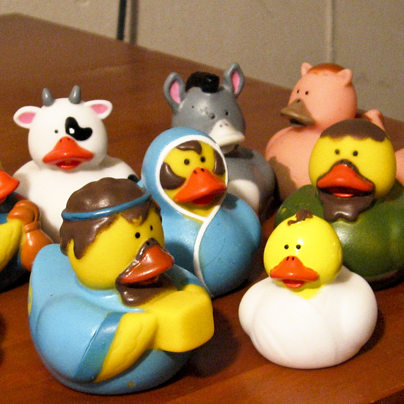 Margo Dixon's collection ranges from the traditional to the fun -- this is a Nativity set comprising rubber ducks. Some Nativity collectors prefer only sets that use humans to depict the characters, but Dixon appreciates the wide variety of interpretations of the Nativity.