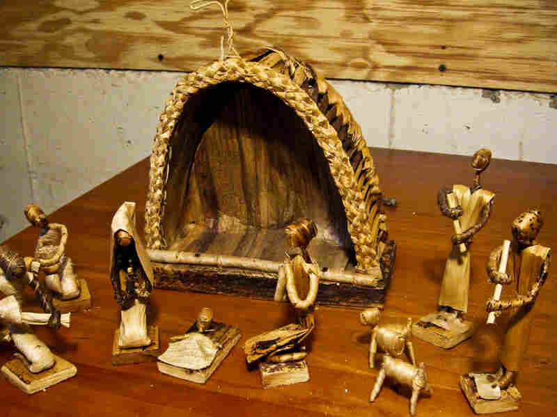 Dixon has gathered her Nativity collection from many sources around the world. She says this set is made of banana fronds and was given to her by a friend who was a missionary in Nigeria.