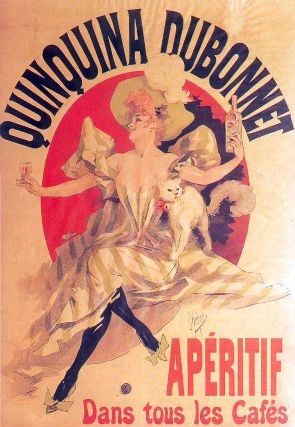 Dubonnet is a French liqueur made wine, herbs and quinine. Joseph Dubonnet concocted the beverage as way to make troops take their malaria medication. (Wikimedia Commons)