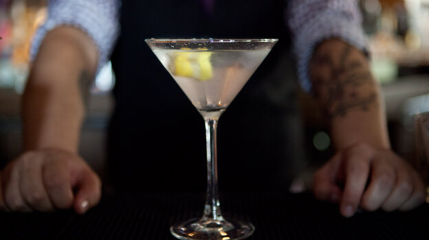 Shaken with splash of malaria drug, please. The original James Bond martini is made with gin, vodka and Kina Lillet, a French aperitif wine flavored with a smidge of the anti-malaria drug quinine.