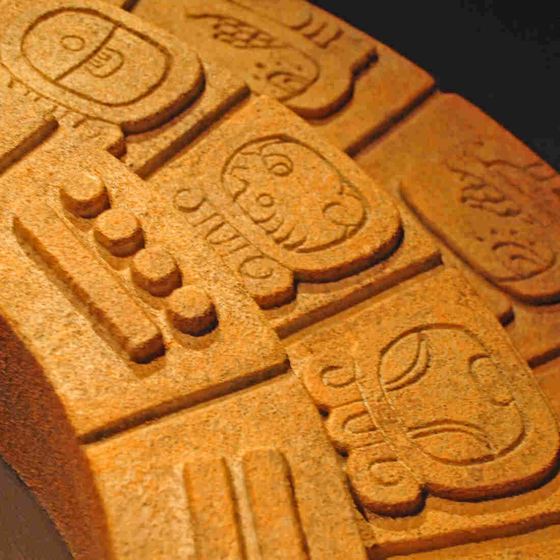A replica Mayan Calendar Round showing the date September 21, 2004, opening day for the Smithsonian's National Museum of the American Indian.