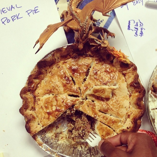 "This ""Medieval Meat Pie"" was submitted as an entry in NPR's in-house pie contest."