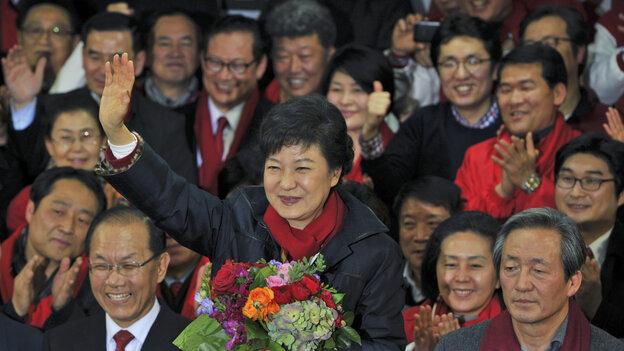 South Korea's Park Geun-hye claimed victory Wednesday i