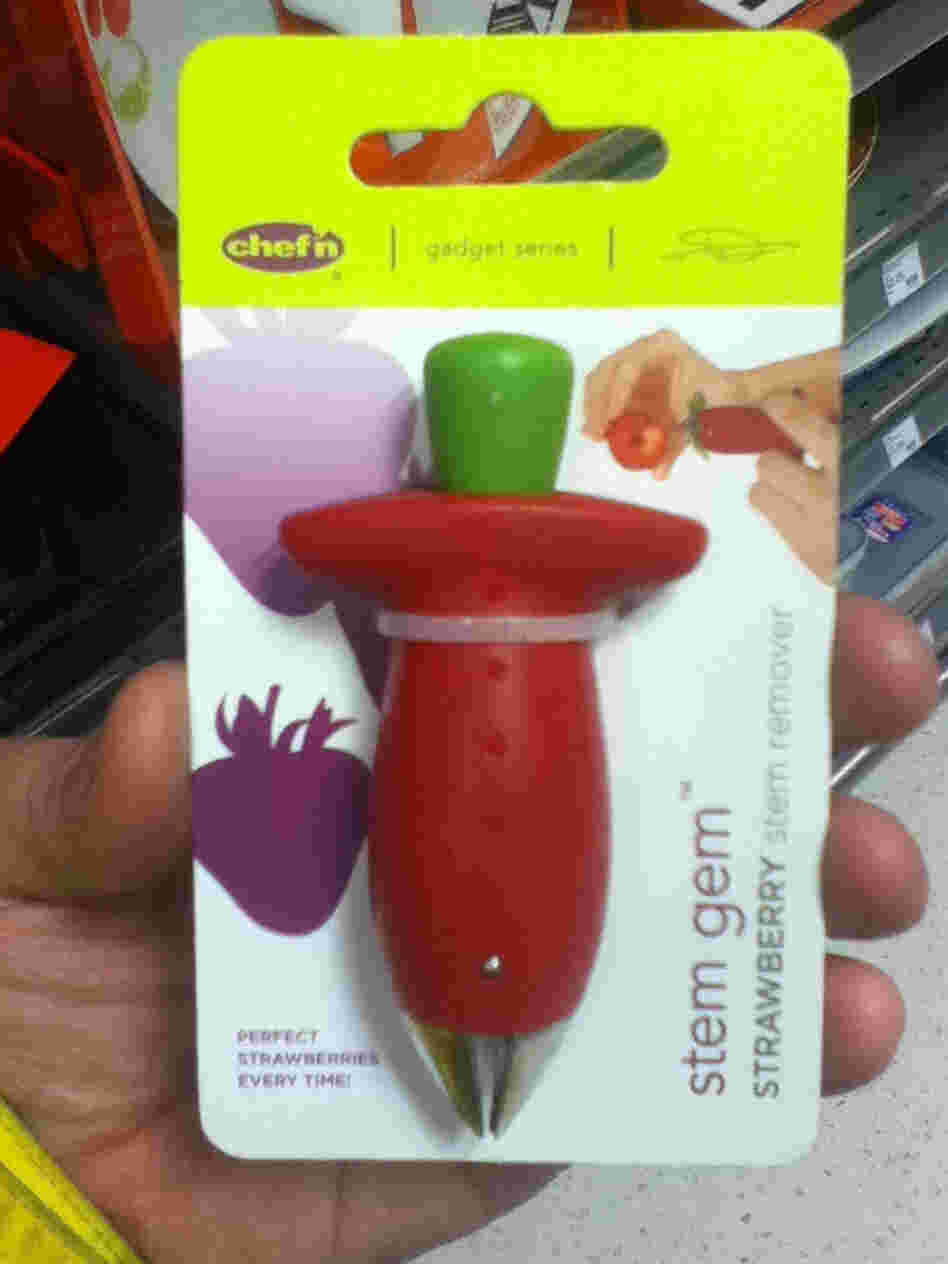 A strawberry stem remover.