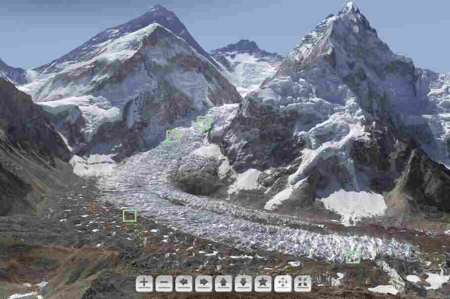 A screen grab of an interactive gigapan by GlacierWorks