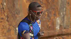 Dancer Fogo de Deus, who is part of the Os Kuduristas project of traveling kuduro artists.