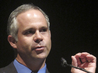Rep. Tim Huelskamp, R-Kan., shown in 2010, has said he would deserve a primary challenge if he voted for House Speaker John Boehner's