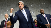 Sen. John Kerry, D-Mass., led a Senate hearing Thursday on the Sept. 11 attacks in Benghazi, Libya.