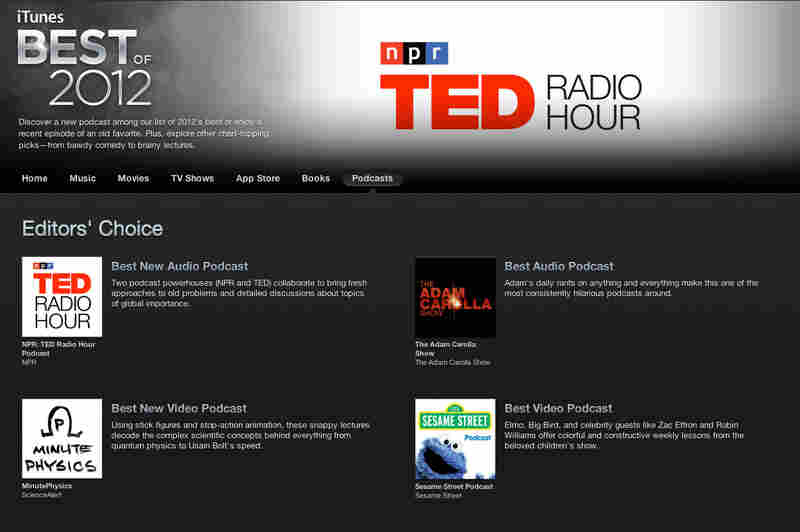 TED Radio Hour named Best New Audio Podcast of 2012 by iTunes.