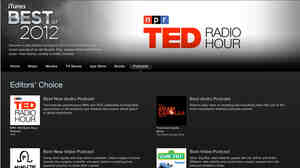 TED Radio Hour named Best New Audio Podc