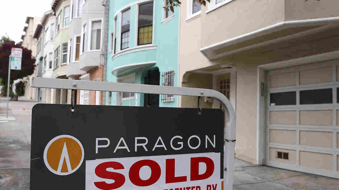 "San Francisco: A ""sold"" sign in front of a home earlier this year."