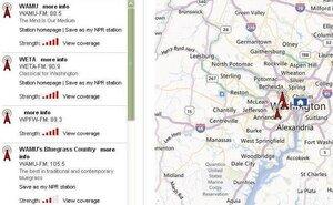 NPR Station Finder Map