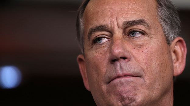 House Speaker John Boehner speaks at a press conference Friday on Capitol Hill. (Getty Images)