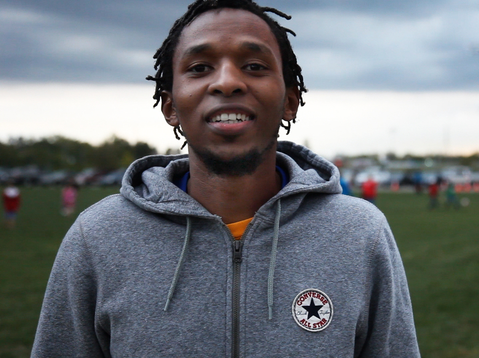 Adolphe Bizwinayo left Rwanda as a refugee and says his new city, Dayton, Ohio, helped him transition to American life with initiatives like the Dayton World Soccer Games.