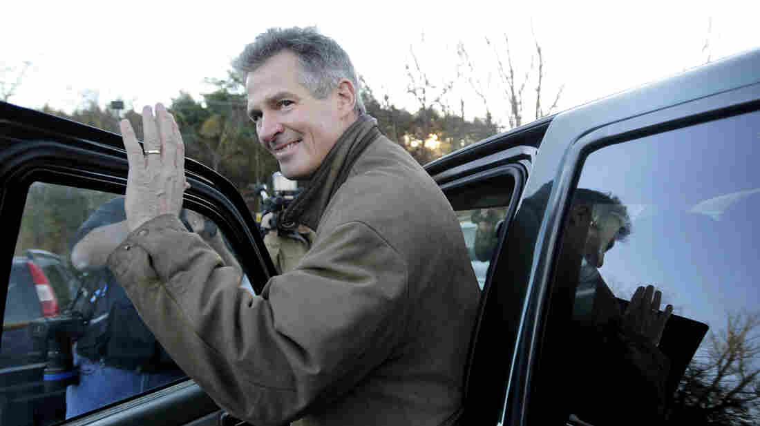 Sen. Scott Brown, R-Mass., gets into his pickup truck after voting in Wrentham, Mass., on Nov. 6. Brown lost the election to Democrat Elizabeth Warren, but both he and his truck could be back on the campaign trail soon.