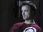 Aaron Paul plays a meth-making drug dealer on the AMC drama Breaking Bad.