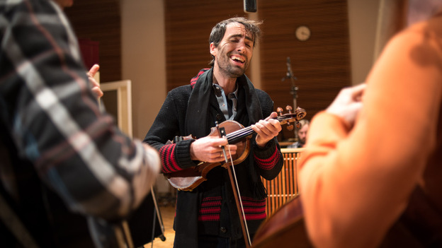 Andrew Bird performs on The Current. (The Current)