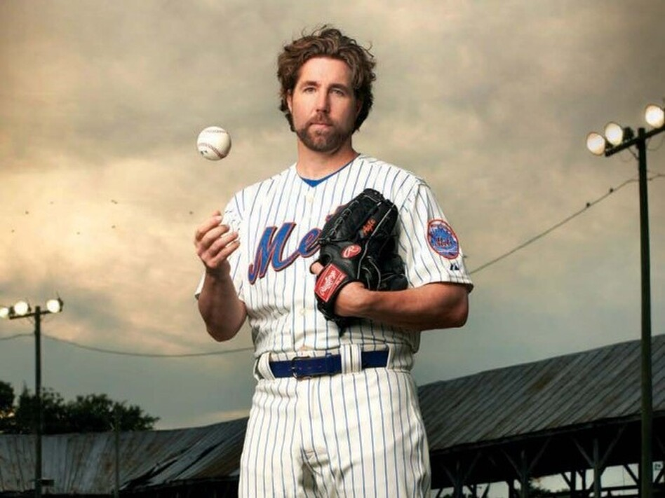 R.A. Dickey currently plays for the New York Mets. He was previously with the Seattle Mariners, Minnesota Twins, Texas Rangers and Milwaukee Brewers.
