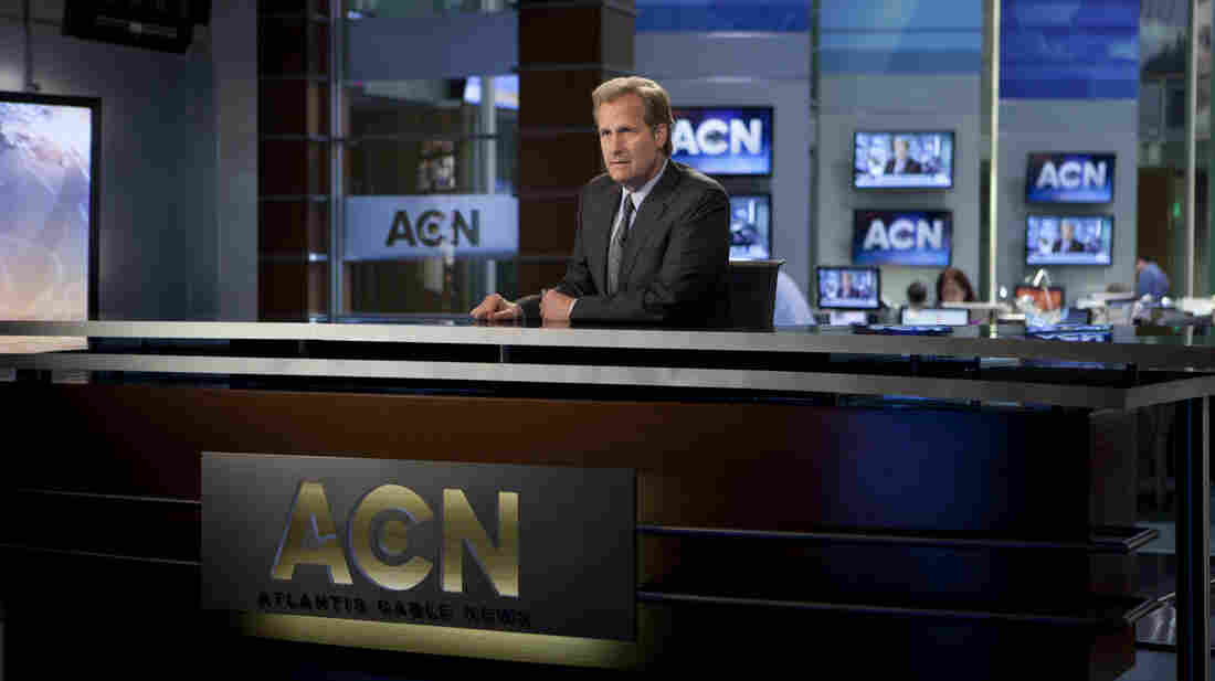 On Aaron Sorkin's latest drama The Newsroom, Will McAvoy (Jeff Daniels) pledges to cover stories because they're important, not because they get ratings.