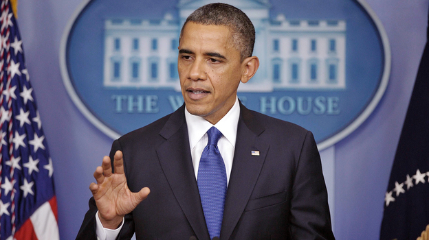 At a press conference Friday, President Obama urges  Congress to pass a scaled-back package to avert end-of-year tax hikes and spending cuts.