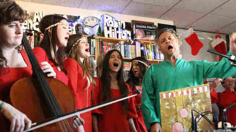 The Polyphonic Spree performs a Tiny Desk Concert.