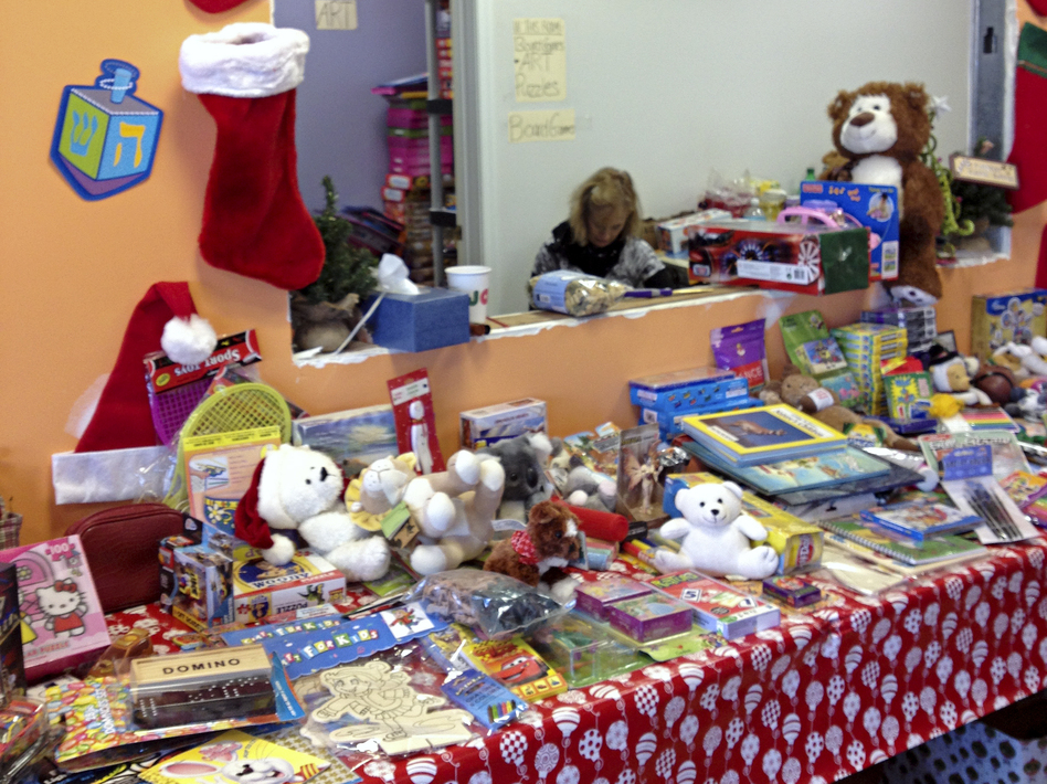 Each FEMA-registered family with kids can pick out toys at the volunteer-run Staten Island store.