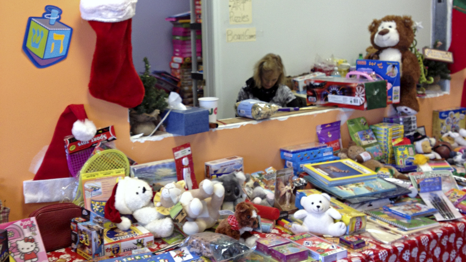 Each FEMA-registered family with kids can pick out toys at the volunteer-run Staten Island store. (NPR)