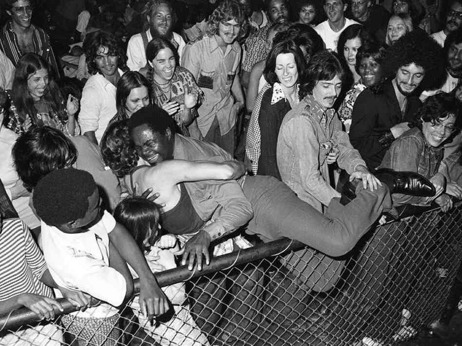 Ernie K-Doe and his fans at the Warehouse in New Orleans in 1974.