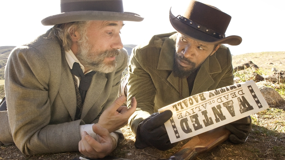 Former slave Django (Jamie Foxx) treks across the country with King Schultz (Christoph Waltz), the bounty hunter who bought his freedom. (The Weinstein Company)
