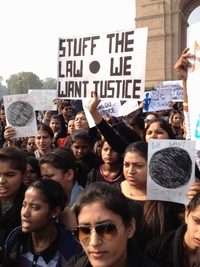 This week students and women's groups descended on India Gate, a central Delhi landmark, to demand tough penalties for molestation and rape.