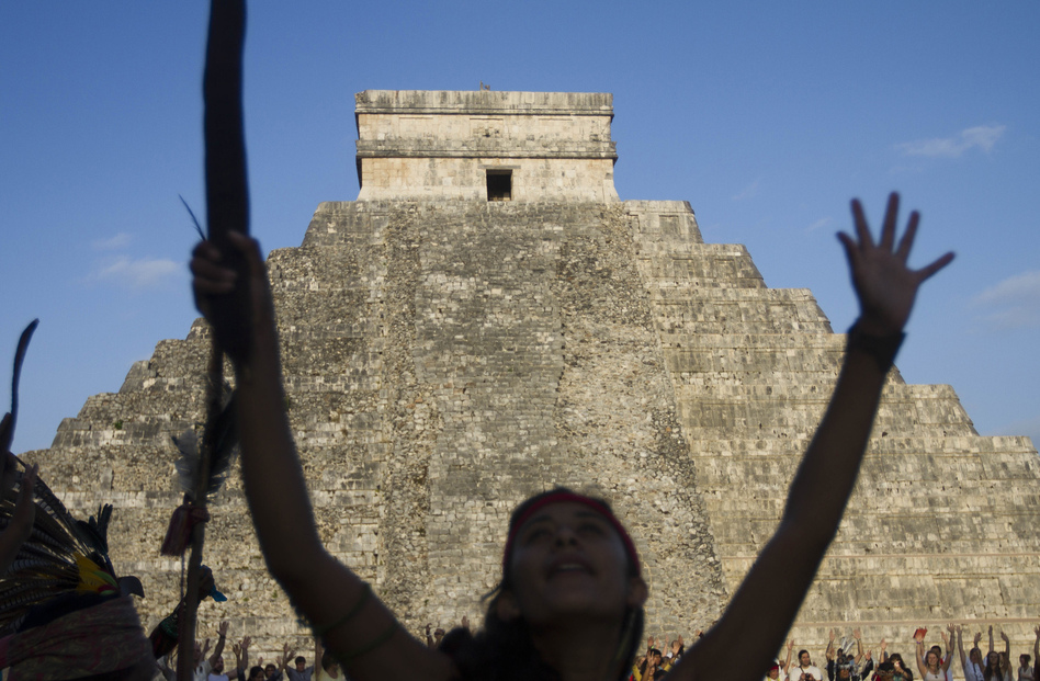 Visitors at the Chichen Itza archaeological park in Yucatan state, Mexico, celebrate the end of the Mayan calendar cycle. Even a failed apocalypse has value, in reminding us that life is fragile and unpredictable.