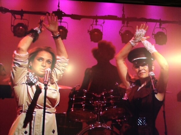 Maya Rudolph (left) and Gretchen Liberum perform as Princess on Late Night with Jimmy Fallon in September.