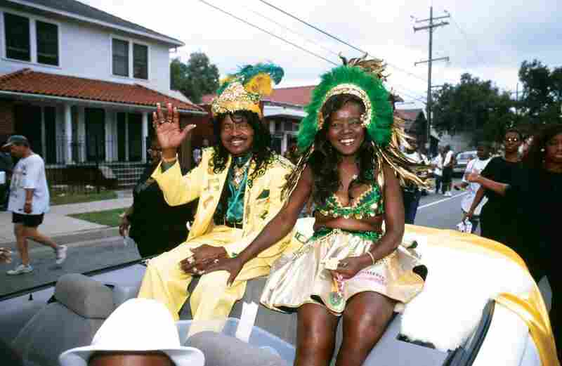 Ernie and Antoinette K-Doe in a Treme neighborhood parade in 2000.