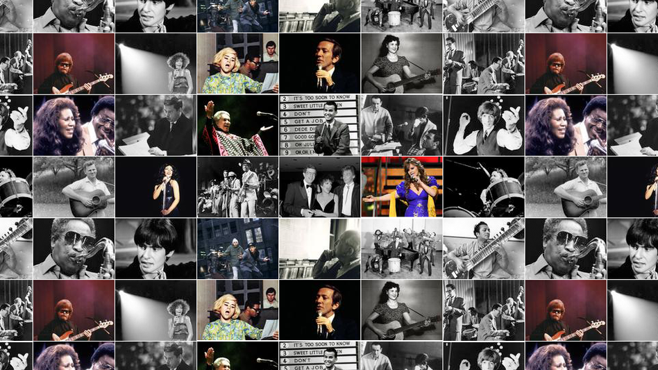 photo montage of musicians who died in 2012
