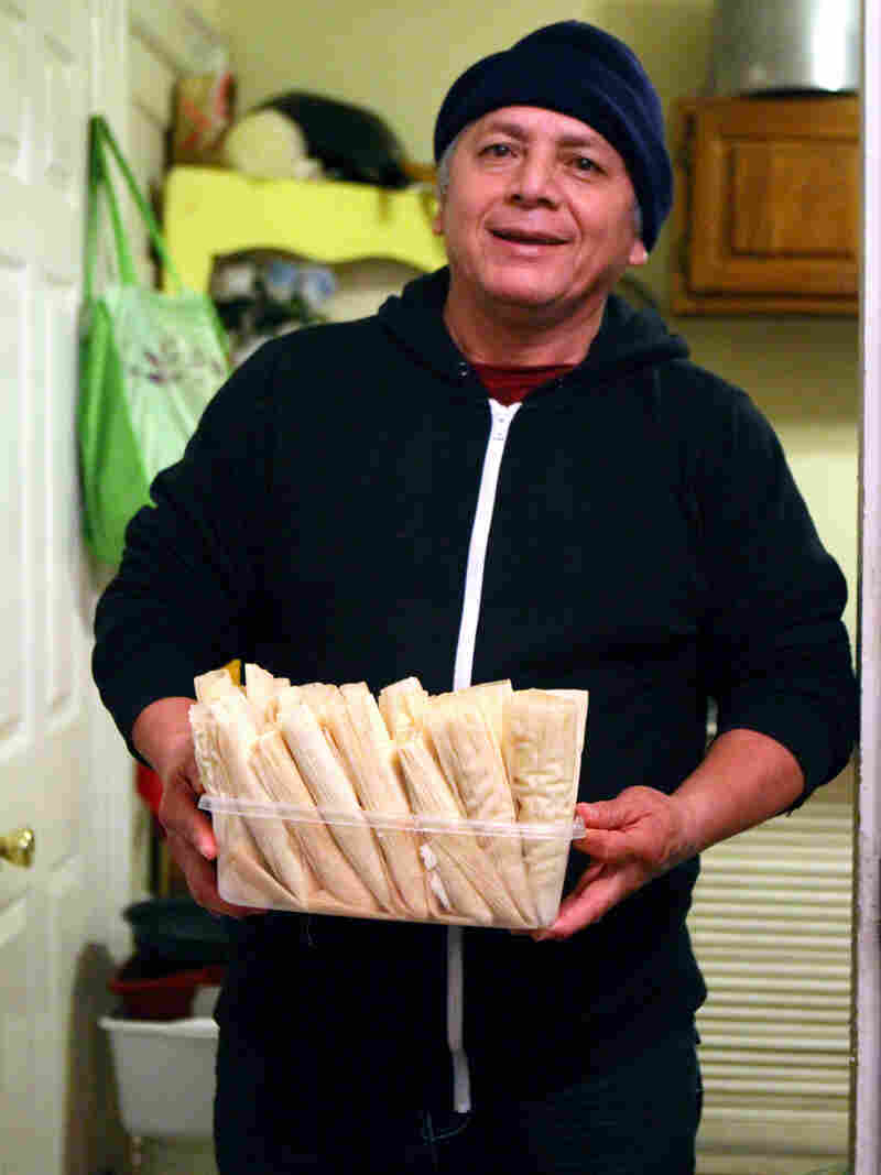 Ofelio Crespo makes tamales in his home all year, but December is particularly busy.