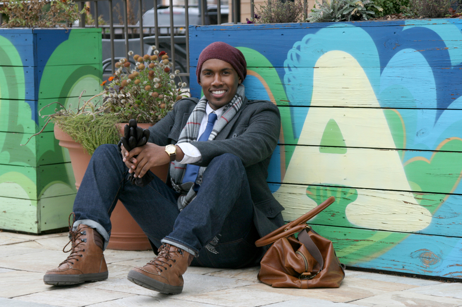 Tell Me More intern Azmi Abusam is dressed in designs by Guess, Aldo and H&M. He got his handmade leather bag from a street dealer in Khartoum, Sudan. Abusam says his style changes every six months, but it's usually based on comfort, quality and simply personal taste.