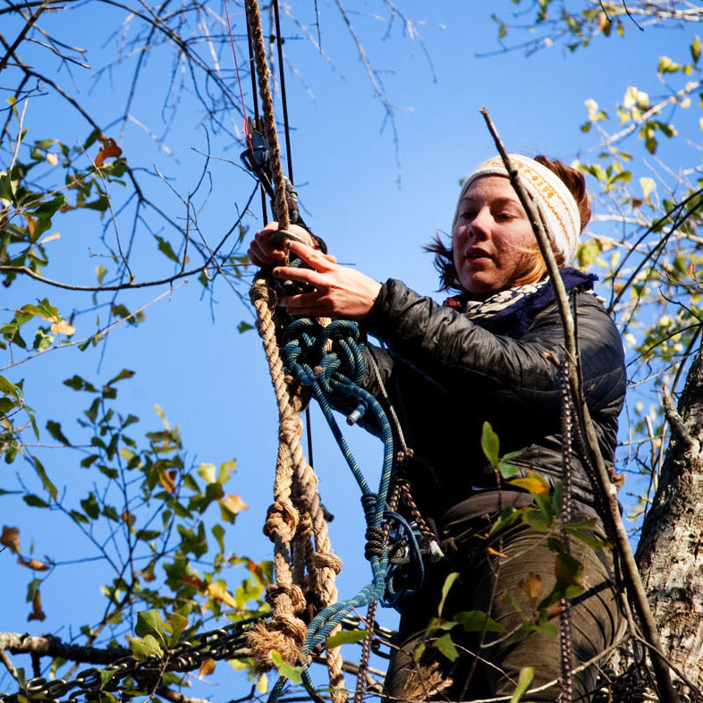 Grace Cagle, a protester with the Tar Sands Blockade, has spent a total of 17 days up in the trees.