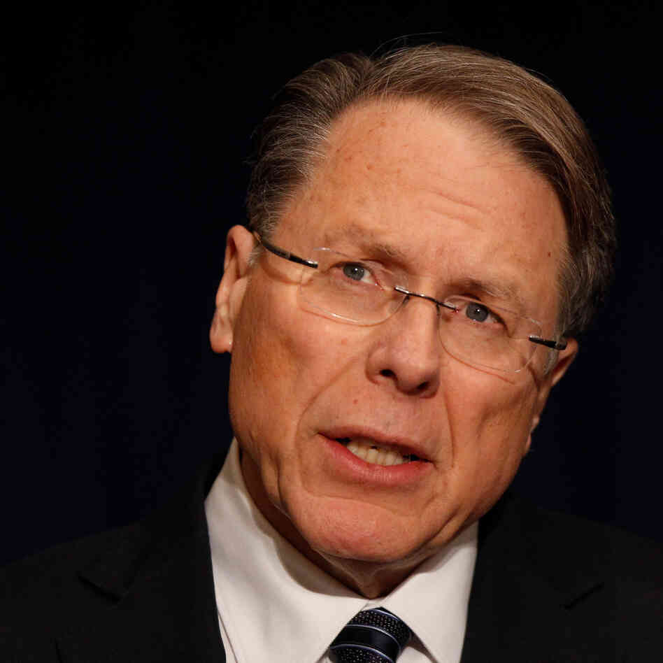 The National Rifle Association's Wayne LaPierre.