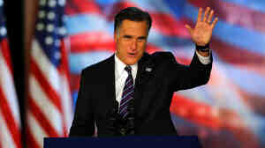 Republican presidential nominee Mitt Romney on Election Night in Boston, as he conceded the race to President Obama.